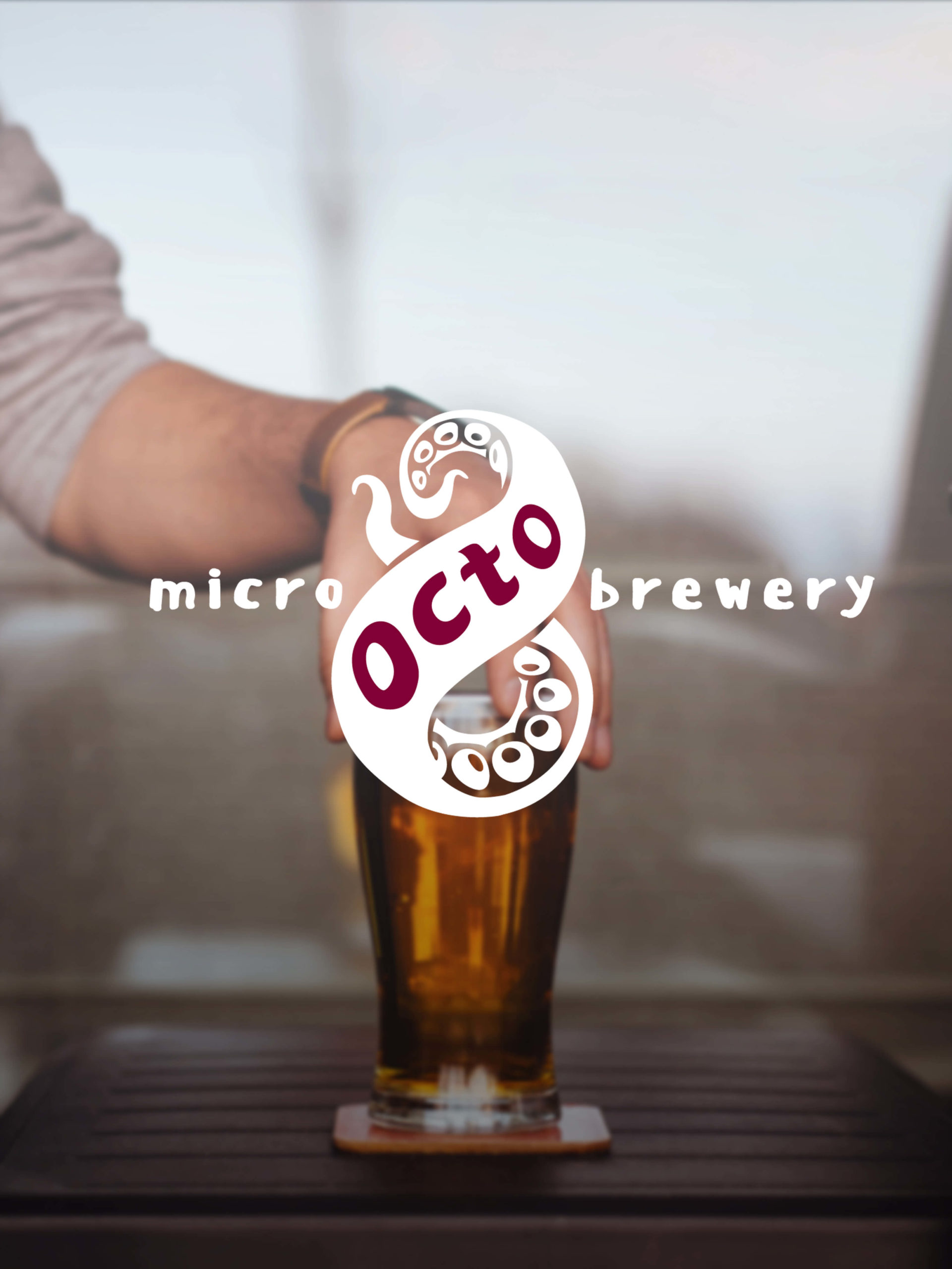 Landing page for OCTO BEER